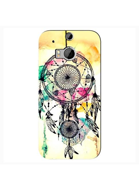 People's Cover HTC One M8 Kabartmalı Telefon Kılıfı Renkli